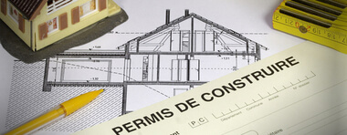 Constat d'affichage d'un permis de construire :